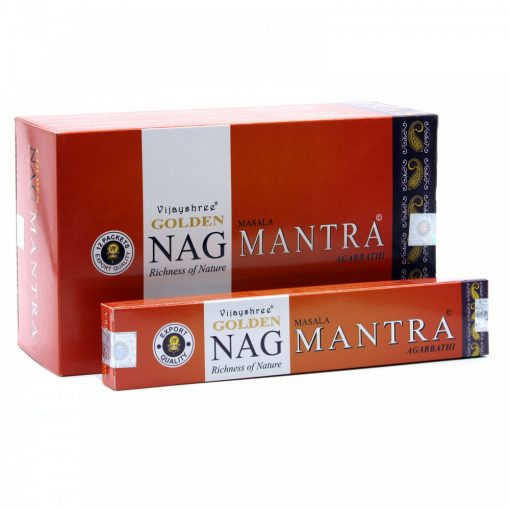 15g Golden Nag Füstölőpálcikák- Mantra