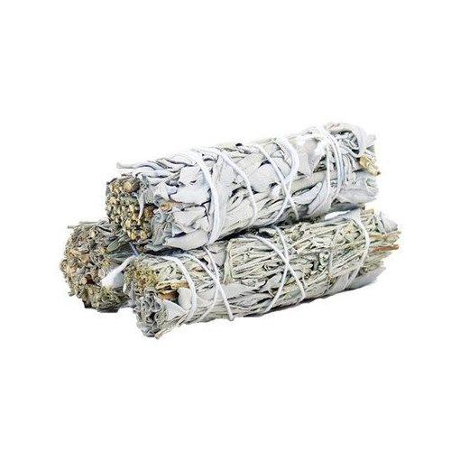 Füstölő Köteg - Fehér Zsálya & Kék Zsálya 10cm